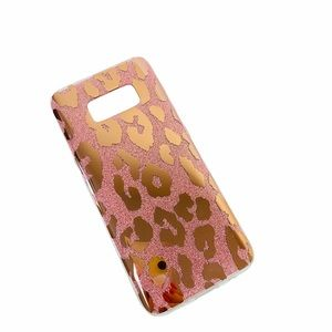 NEW Samsung S8 Phone Case Rose Gold Cheetah Print